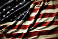 American flag closeup of ruffled Royalty Free Stock Photos