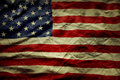 American flag closeup of wrinkled Stock Photography