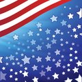 American flag colorful illustration with for your design Stock Photography
