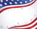 American Flag with Confetti Royalty Free Stock Image