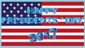 American flag. Congratulations 2017.