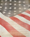 American Flag & Constitution Royalty Free Stock Image