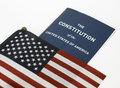 American Flag and Constitution Royalty Free Stock Photo