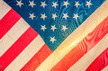 American Flag, detail, sunset Royalty Free Stock Photo