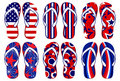 American Flag Flip Flops Stock Photos