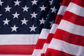 American flag flowing with texture fabric detail, Royalty Free Stock Photo