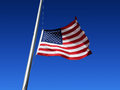 American flag is flown at half staff Royalty Free Stock Photo