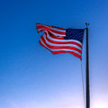 American Flag flying in the breeze Royalty Free Stock Photo