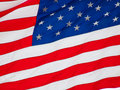 American flag flying in a light breeze Royalty Free Stock Image
