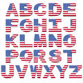 American flag font Royalty Free Stock Photos