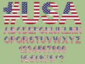 American flag font Royalty Free Stock Photo