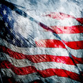American flag grungy vintage textured background Stock Photo