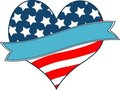 American flag heart Stock Photo