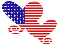 American Flag Hearts Stock Photos