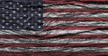 American flag with high detail of old wooden background . Royalty Free Stock Photo