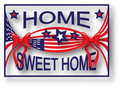 American Flag Home Sweet Home Royalty Free Stock Image