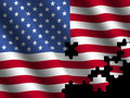 American flag with jigsaw effect Stock Photos