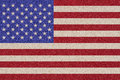American flag made ​​of colored decorative sand of the united states of america Royalty Free Stock Photo