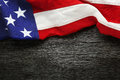 American flag for Memorial day or Veteran`s day background Royalty Free Stock Photo