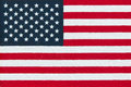American flag miniature version printed in bright colors on cotton fabric Stock Images