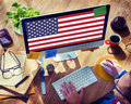 American flag nationality liberty country concept Royalty Free Stock Photos
