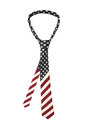 American flag necktie Stock Images