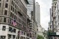 American flag New York City USA Buildings facade Big Apple skyscraper 2 Royalty Free Stock Photo