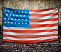 American flag on old wall Stock Image