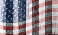 American flag on old wood background Royalty Free Stock Photo