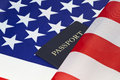 American flag and passport reflect pride of citizenship Royalty Free Stock Photo