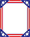 American flag Patriotic picture frame Royalty Free Stock Photo