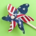 American Flag Patriotic Pinwheel Stock Images