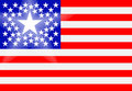 American flag with principal state Stock Photo