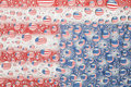 American flag reflected in water drops background Stock Image