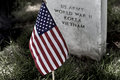 American Flag on a Soldiers Gravesite Royalty Free Stock Photo