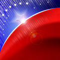 American flag stylized background Royalty Free Stock Photos