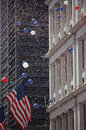 American flag at Tickertape Parade, NY Royalty Free Stock Image