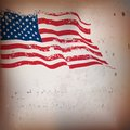 American flag vintage textured background vector eps Royalty Free Stock Image