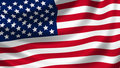 American flag waving detail Royalty Free Stock Photo