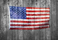 American Flag Wood Background Royalty Free Stock Photo
