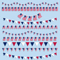 American flags bunting and banners Royalty Free Stock Images