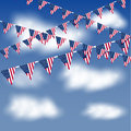 American flags bunting and banners Royalty Free Stock Image