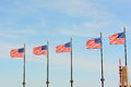 American Flags Chicago Royalty Free Stock Photo