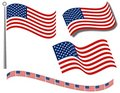 American Flags Clip Art and Divider Royalty Free Stock Image