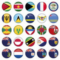 American flags soft round buttons includes dpi jpg illustrator cs and eps vector with transparency Stock Image
