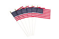 American flags on white background united states of america isolated Royalty Free Stock Photos