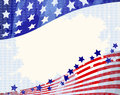 American flowing background patriotic independence day Royalty Free Stock Photography