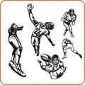 American Football. Royalty Free Stock Images