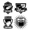 American football badge collection eps Royalty Free Stock Photos