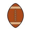 American football ball cartoon